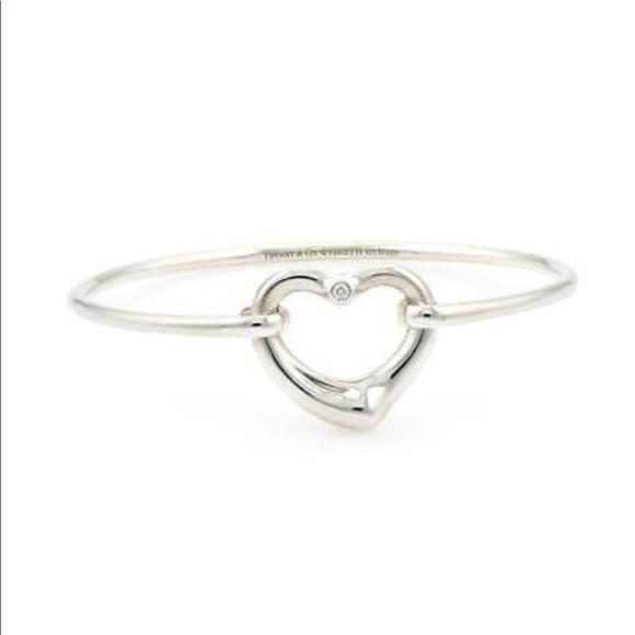 5ccd578c7 Tiffany & Co. Jewelry | Tiffany Co Open Heart Diamond Bangle ...